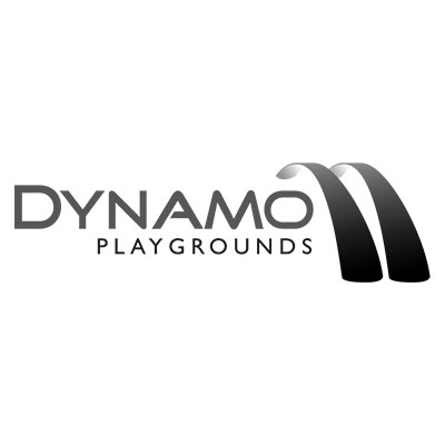 Dynamo Playgrounds Logo Black and White