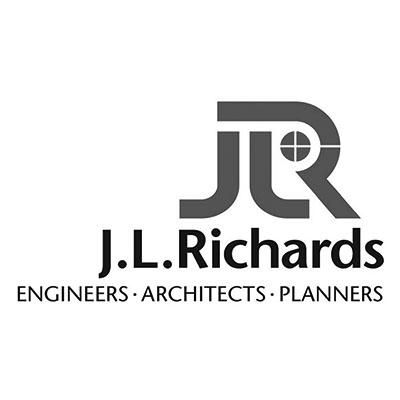 JL Richards Logo Black and White